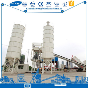 Big Concrete Raw Material Batch Support Plant Working
